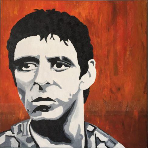 portrait, oil