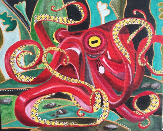 Octopus: Red 2016 (sold)