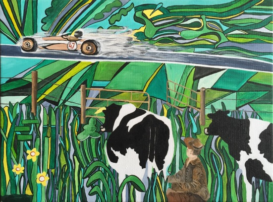 """'Spectator cows"""" 2016 (sold)"""