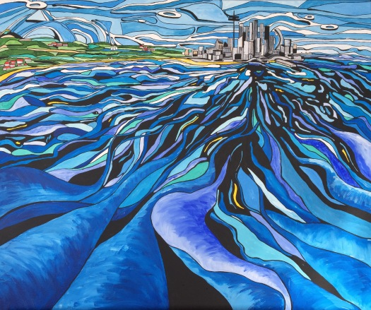 'Across the water' (sold)