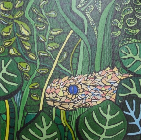 'Snake in the grass' 2017 (sold)